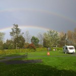 Autumn Rainbow on caravan