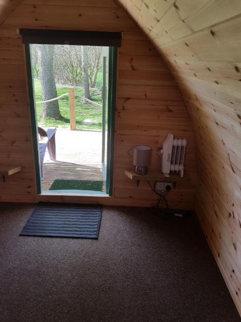 Inside a Camping Pod - Daisy Bank